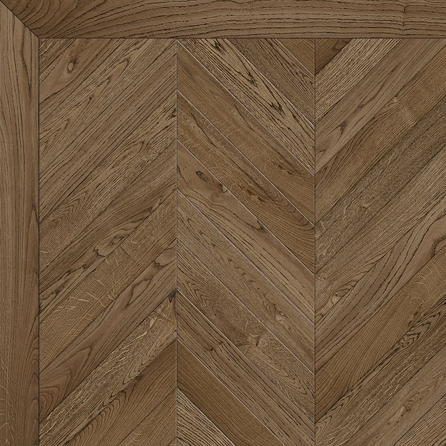 Antique Brown Chevron
