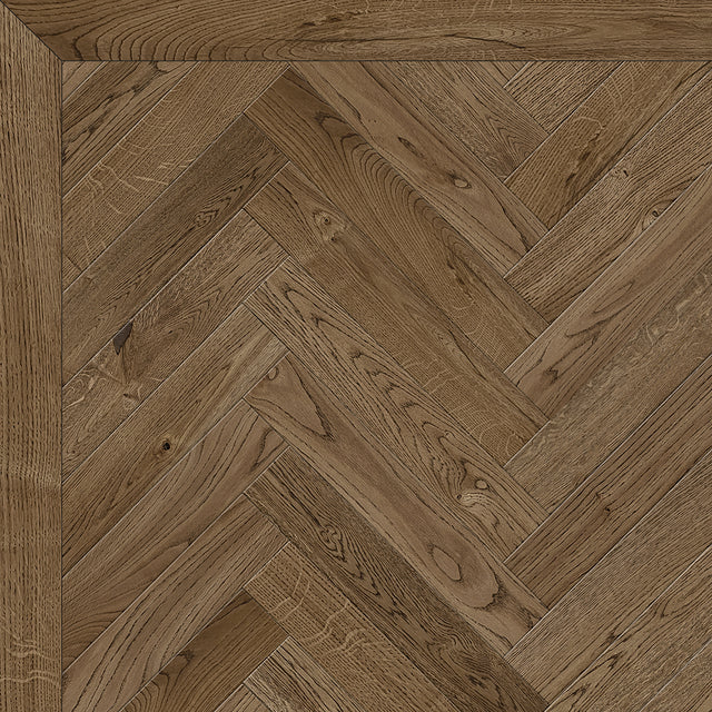 Antique Brown Herringbone