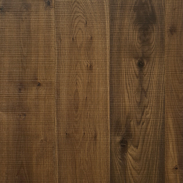 45.07m2 European Engineered Oak Flooring Dark Smoked Bandsawn 180 x 15mm