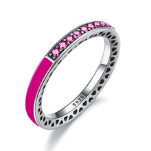 Load image into Gallery viewer, [925 Sterling Silver] 7 Colors Radiant Hearts Ring For Women