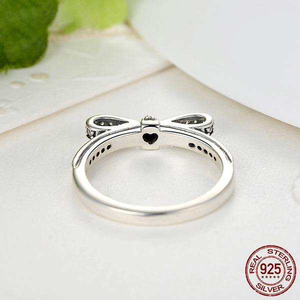 【100% 925 Sterling Silver】 Bow Knot  Ring (2 colors)