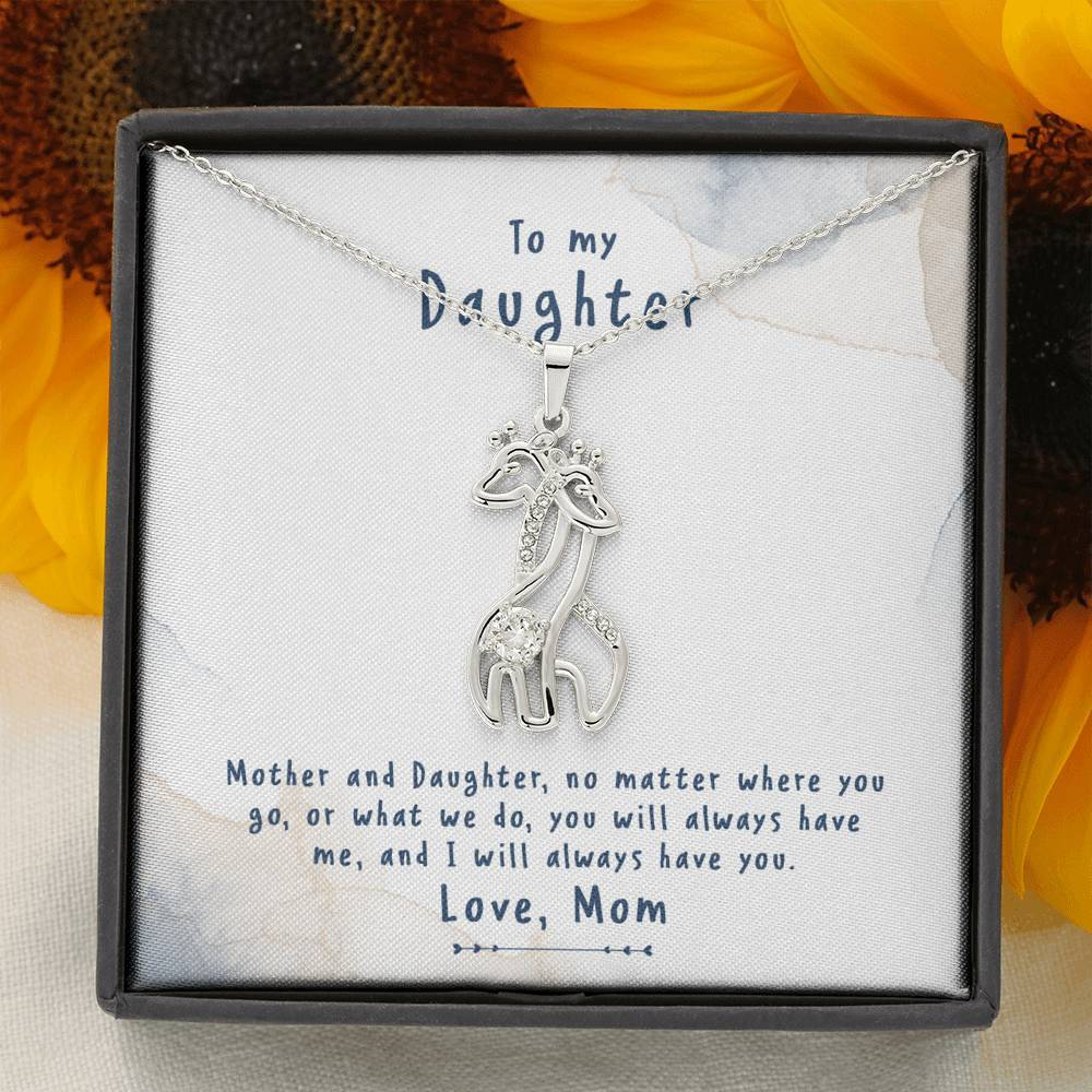 To My Daughter - Mother And Daughter - Necklace