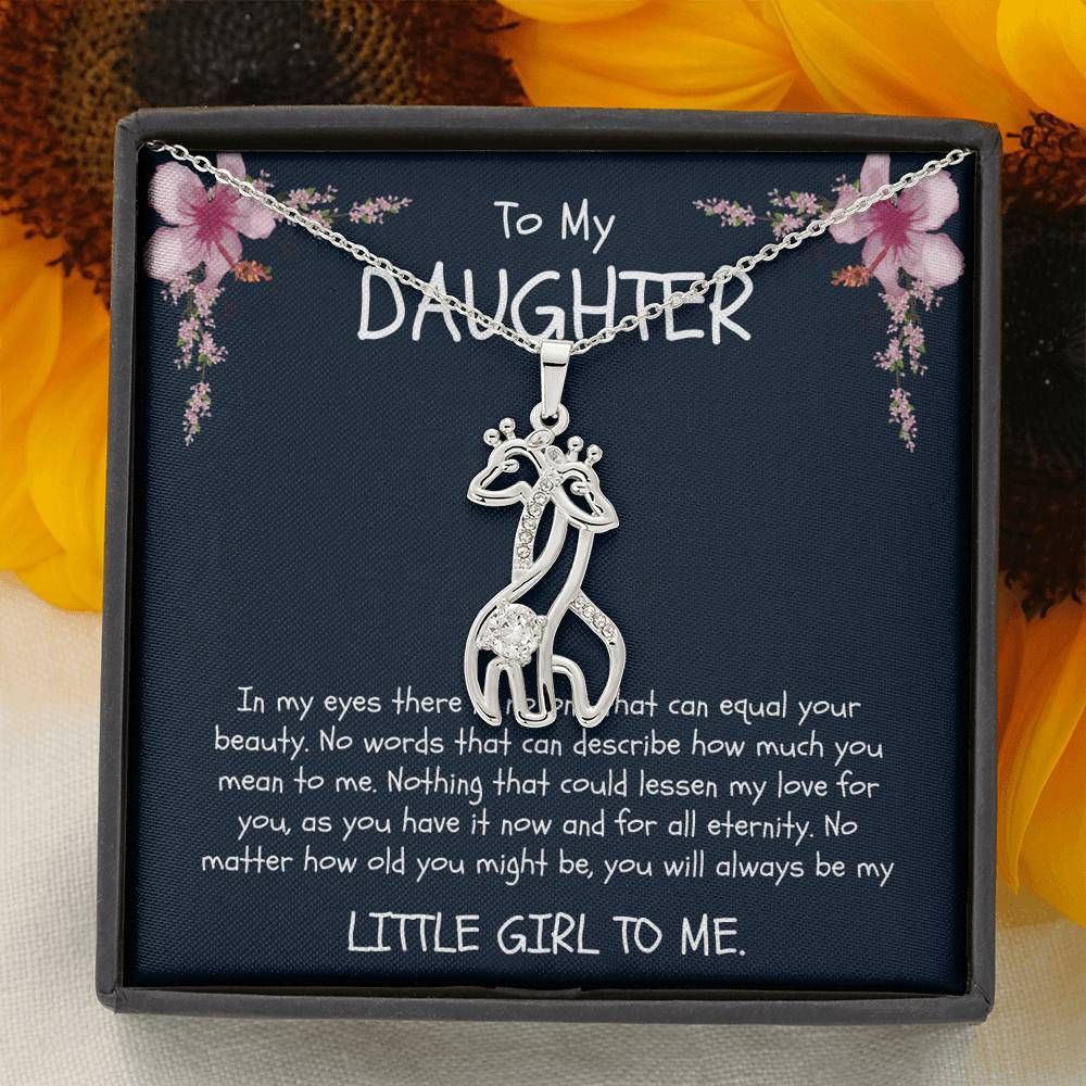 To My Daughter / Daughter-In-Law / Goddaughter - Giraffe Necklace - Birthday, Christmas, Graduation, Engagement - From Mom / Mother / Mommy