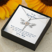 Load image into Gallery viewer, To My Daughter - Mother And Daughter - Dragonfly Necklace