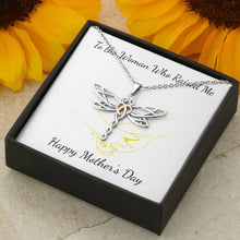 Load image into Gallery viewer, To The Women Who Raise Me Dragonfly Pendant