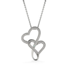 Load image into Gallery viewer, To My Niece Gift - Double Heart Necklace