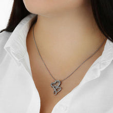 "Load image into Gallery viewer, ""To My Wife"" - I Loved You Then, I Love You Still - Double Hearts Necklace"