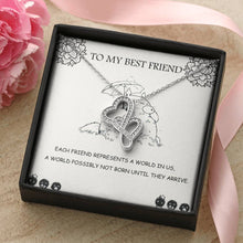Load image into Gallery viewer, To my Best Friend - Totoro - Double heart necklace