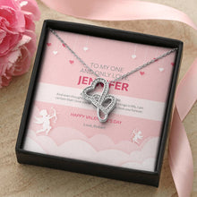 Load image into Gallery viewer, Valentine's Day Gift - Double Hearts Necklace Cupid Design