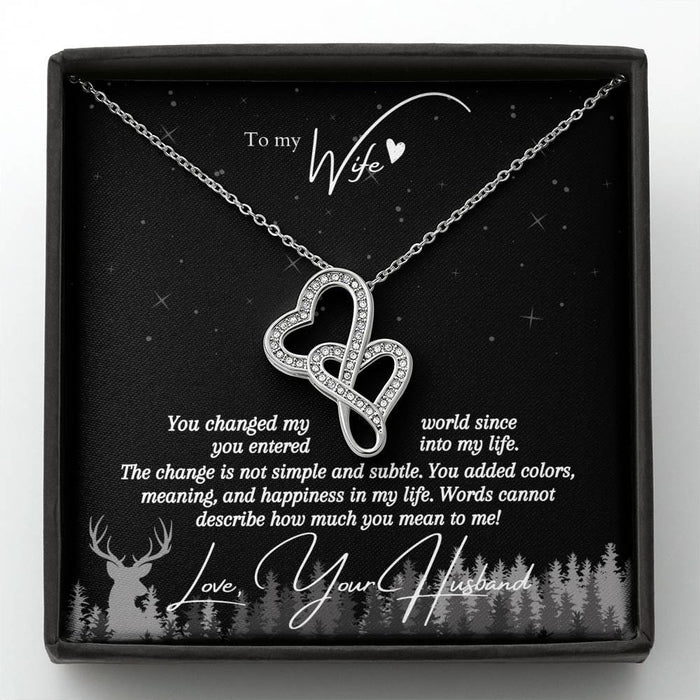 """You Changed My World"" Love Knot Necklace (Under The Stars Edition)"