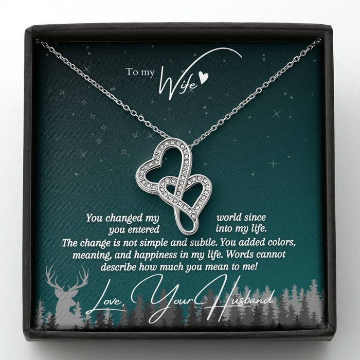 """You Changed My World"" Love Knot Necklace (Aqua Edition) + Hidden Big Dipper"