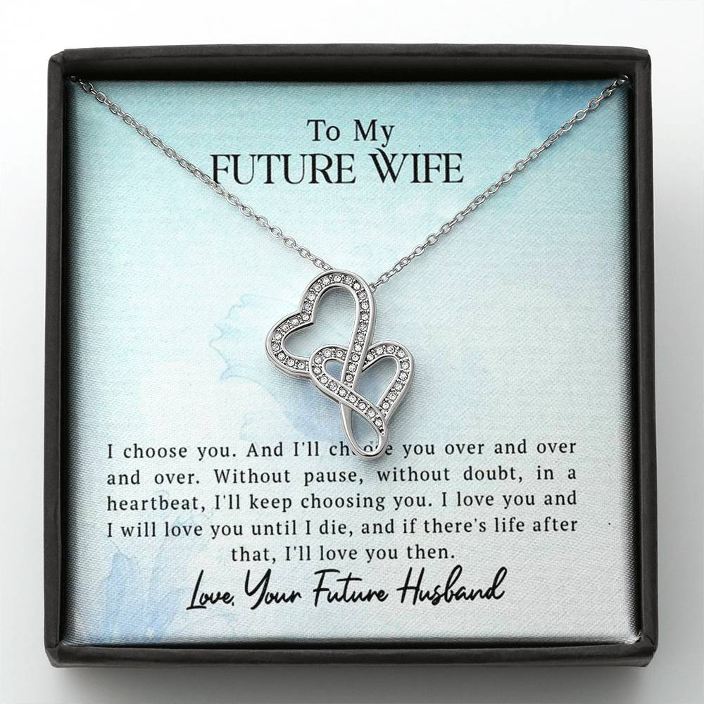 To My Future Wife - Gorgeous Double Hearts Necklace