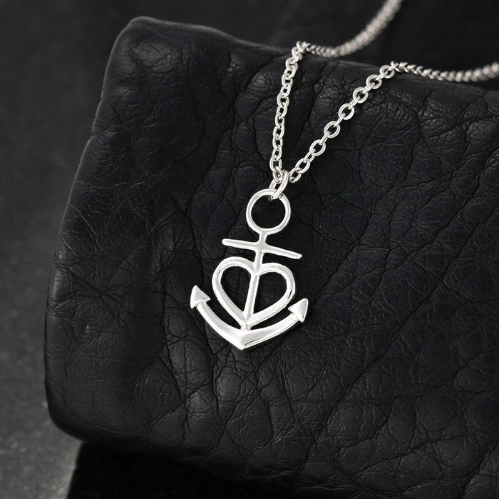 Anchor Necklace - To My Beautiful Granddaughter