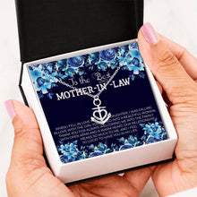 Load image into Gallery viewer, To The Best MOTHER-IN-LAW - Anchor Pendant Necklace