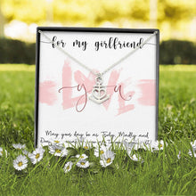 Load image into Gallery viewer, Valentine's Day Dainty Anchor Necklace - Girlfriend