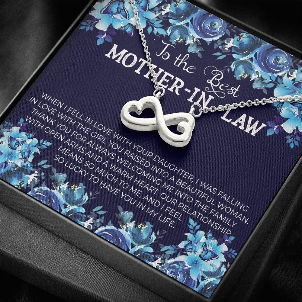 To The Best MOTHER-IN-LAW - Infinity Heart Necklace