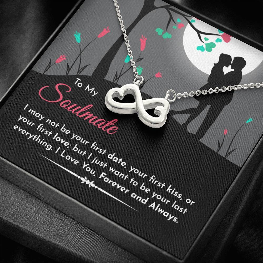 To My Soulmate Infinity Necklace - Best Gift for Girlfriend