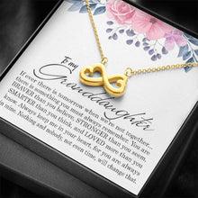 Load image into Gallery viewer, To My Granddaughter Infinity Heart Necklace Gift, Birthday Present