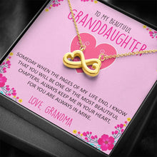 Load image into Gallery viewer, To My Beautiful Granddaughter Gift Infinity Heart Necklace,Gift for Granddaughter from Grandma