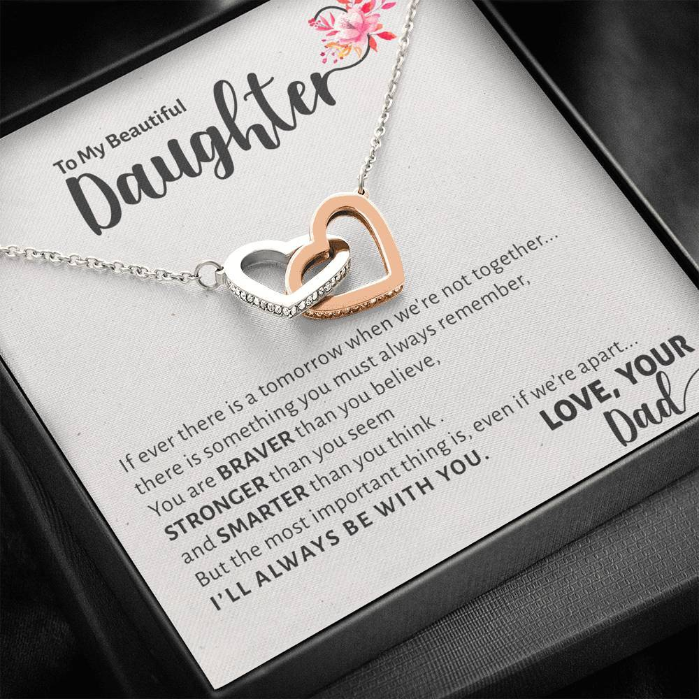 To My Beautiful Daughter Necklace, To Daughter from Dad