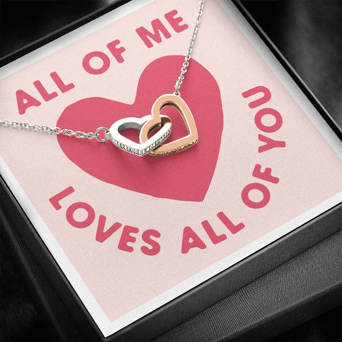 All Of Me LOVES All Of You - Interlocking heart Necklace