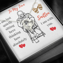 Load image into Gallery viewer, Shining Heart Pendant Necklace - Mittens Meme Inspired Gift - All Occasion Gift - Gift for Wife - Gift for Girlfriend