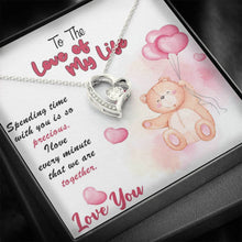 Load image into Gallery viewer, Valentine Necklace, Cubic Zirconia Heart Pendent, Valentine Gift Box with Card, Valentine Day Gift, Valentine Gift for Wife, Wife Gifts