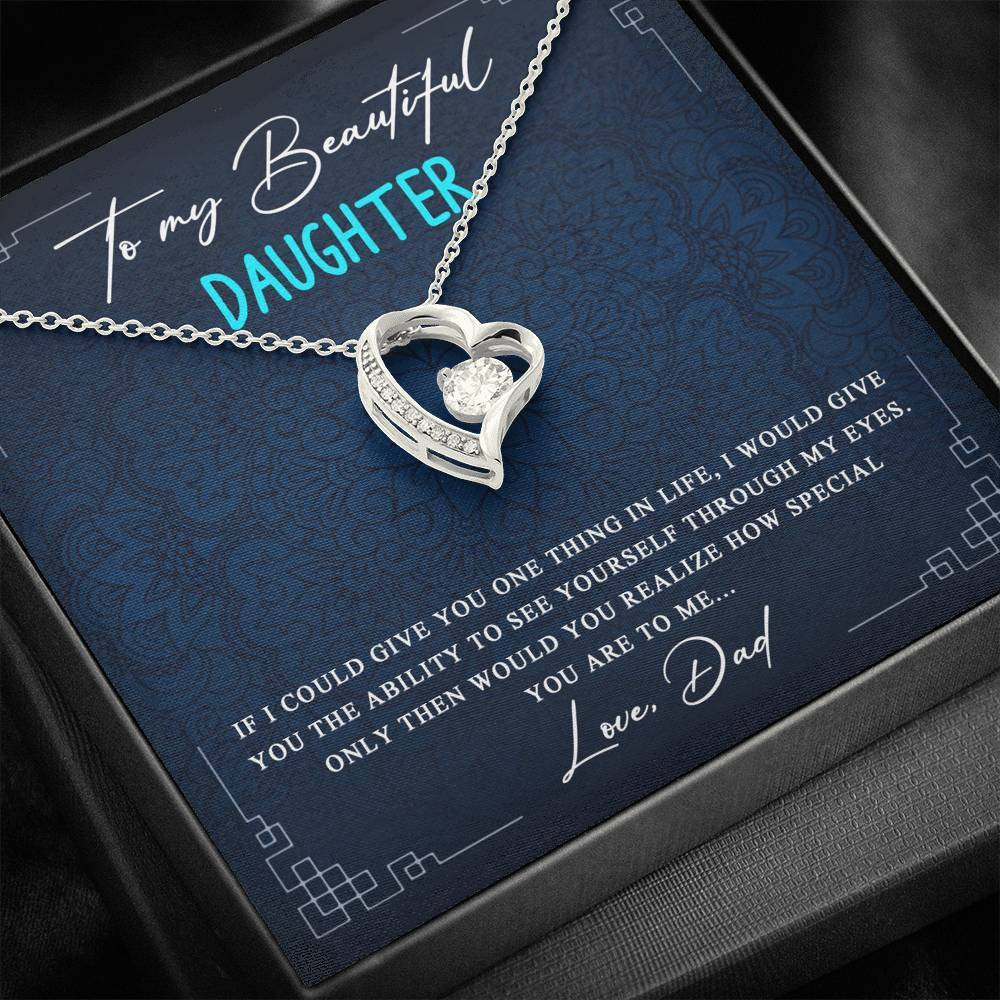 Beautiful Gift for Daughter From Dad - Forever Love Necklace