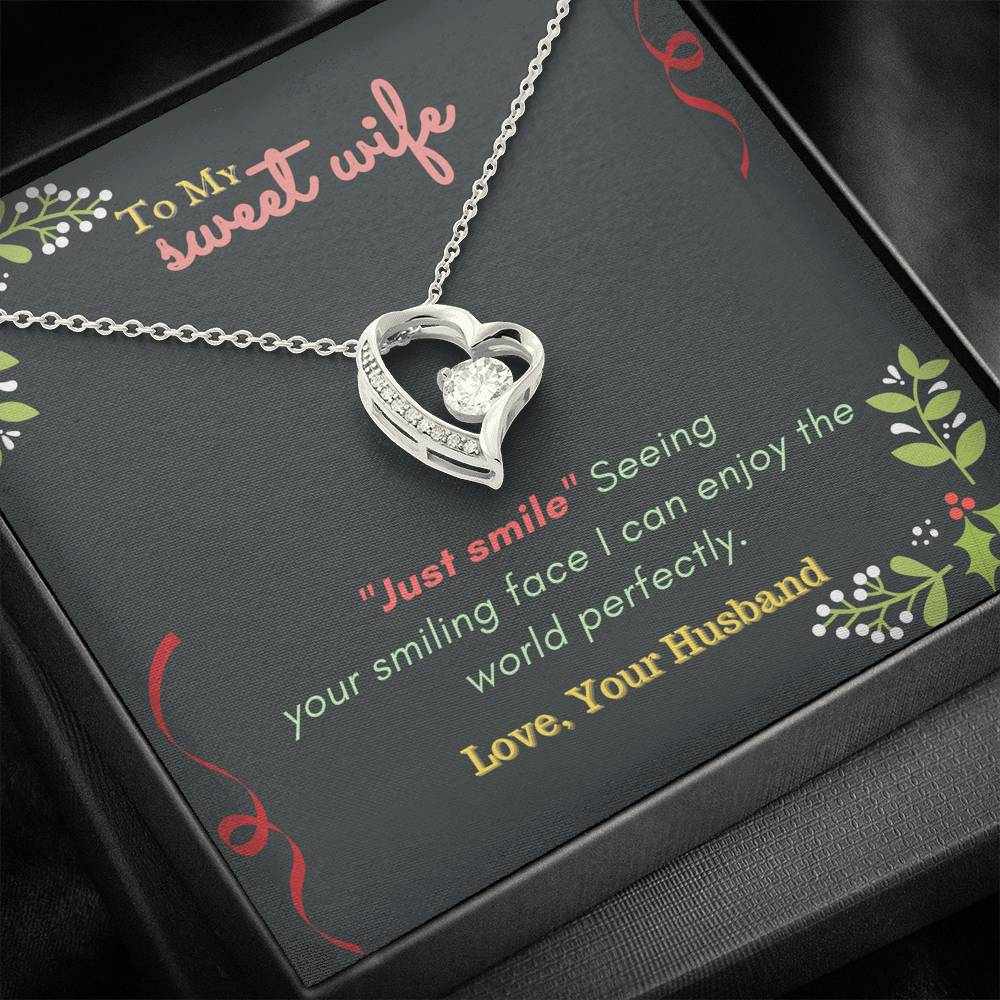 Forever Love Necklace To Sweet Wife  , Valentine gift for wife, gift from husband, Anniversary Necklace, Birthday Gift