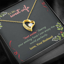 Load image into Gallery viewer, Forever Love Necklace To Sweet Wife  , Valentine gift for wife, gift from husband, Anniversary Necklace, Birthday Gift