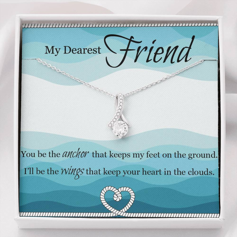 To My Dearest Friend sparkly pendant Necklace