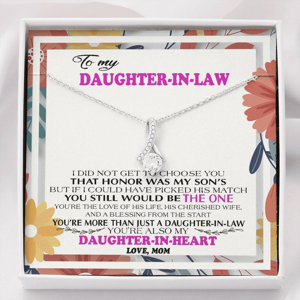Daughter-In-Law Gift Alluring Beauty Necklace : Wedding Gift, Jewelry From Mother-In Law, Gift for Bride