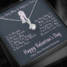 "Load image into Gallery viewer, ""Because I Love You"" Valentine's Day Devotion Pendant"