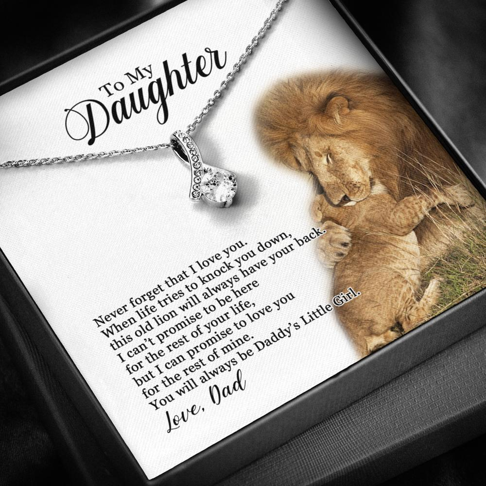 To My Daughter - You Will Always Be Daddy's Little Girl - Necklace