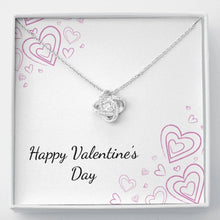 Load image into Gallery viewer, Valentine's Day Love Knot Necklace
