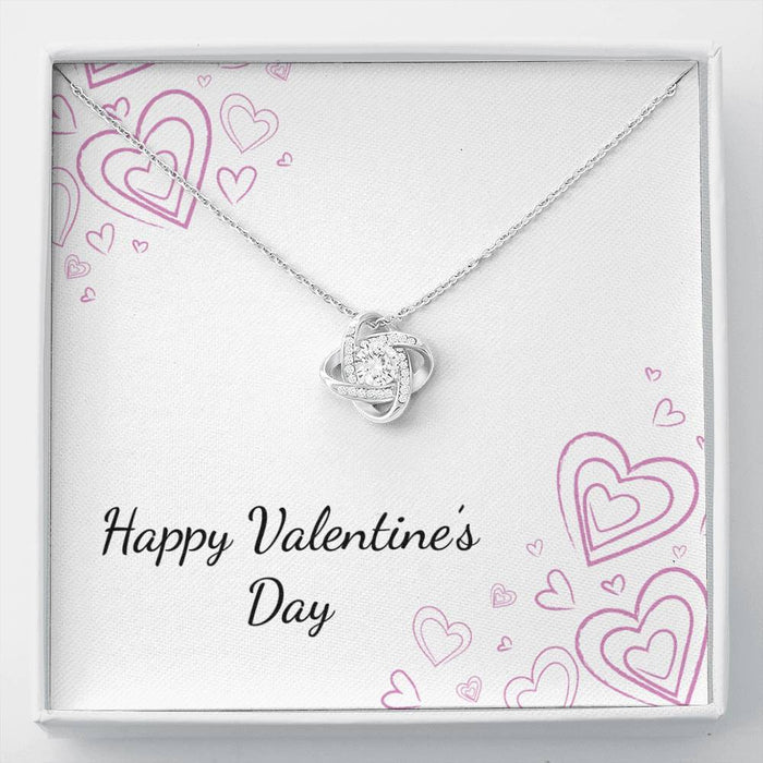 Valentine's Day Love Knot Necklace
