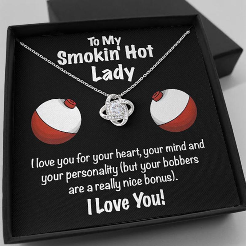 Smokin' Hot Lady | perfect gift for her - Love Knot Necklace