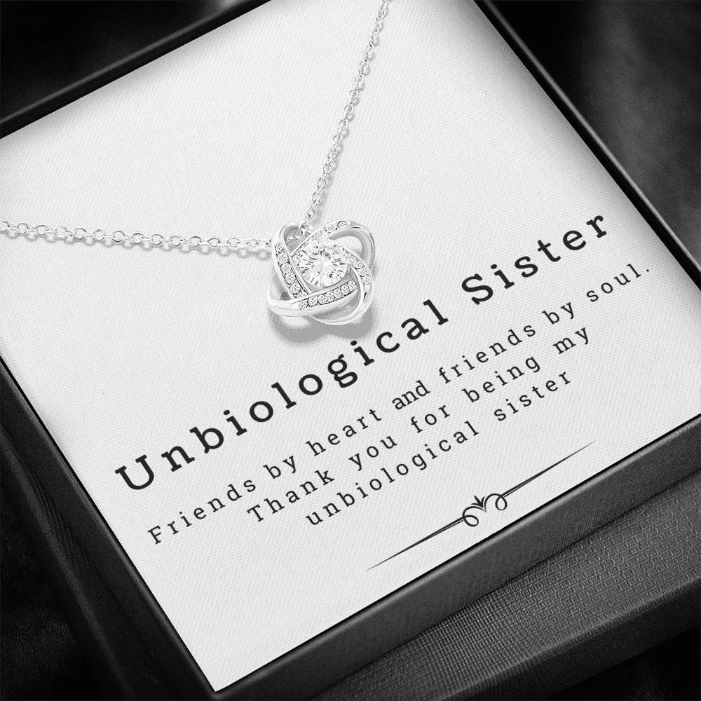 Unbiological Sister - Friendship knot Necklace