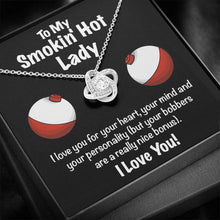 Load image into Gallery viewer, Smokin' Hot Lady | perfect gift for her - Love Knot Necklace