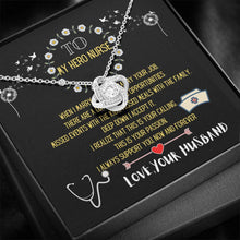 Load image into Gallery viewer, To my Hero Nurse - Love Knot Necklace