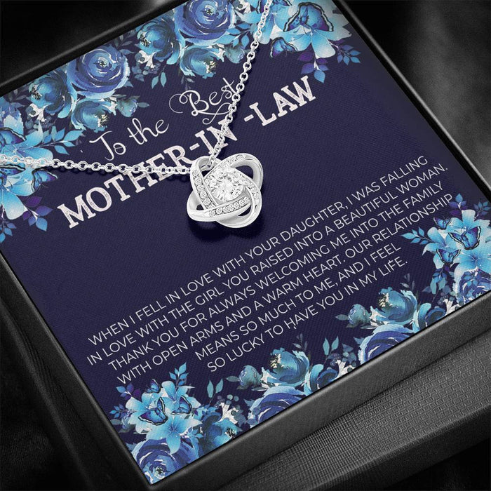 To The Best MOTHER-IN-LAW - Love Knot Necklace