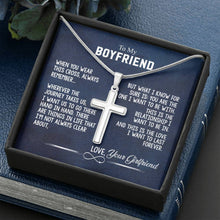 Load image into Gallery viewer, To My Boyfriend - Crafted Cross Necklace