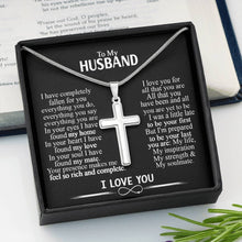 Load image into Gallery viewer, To My Husband Cross Necklace