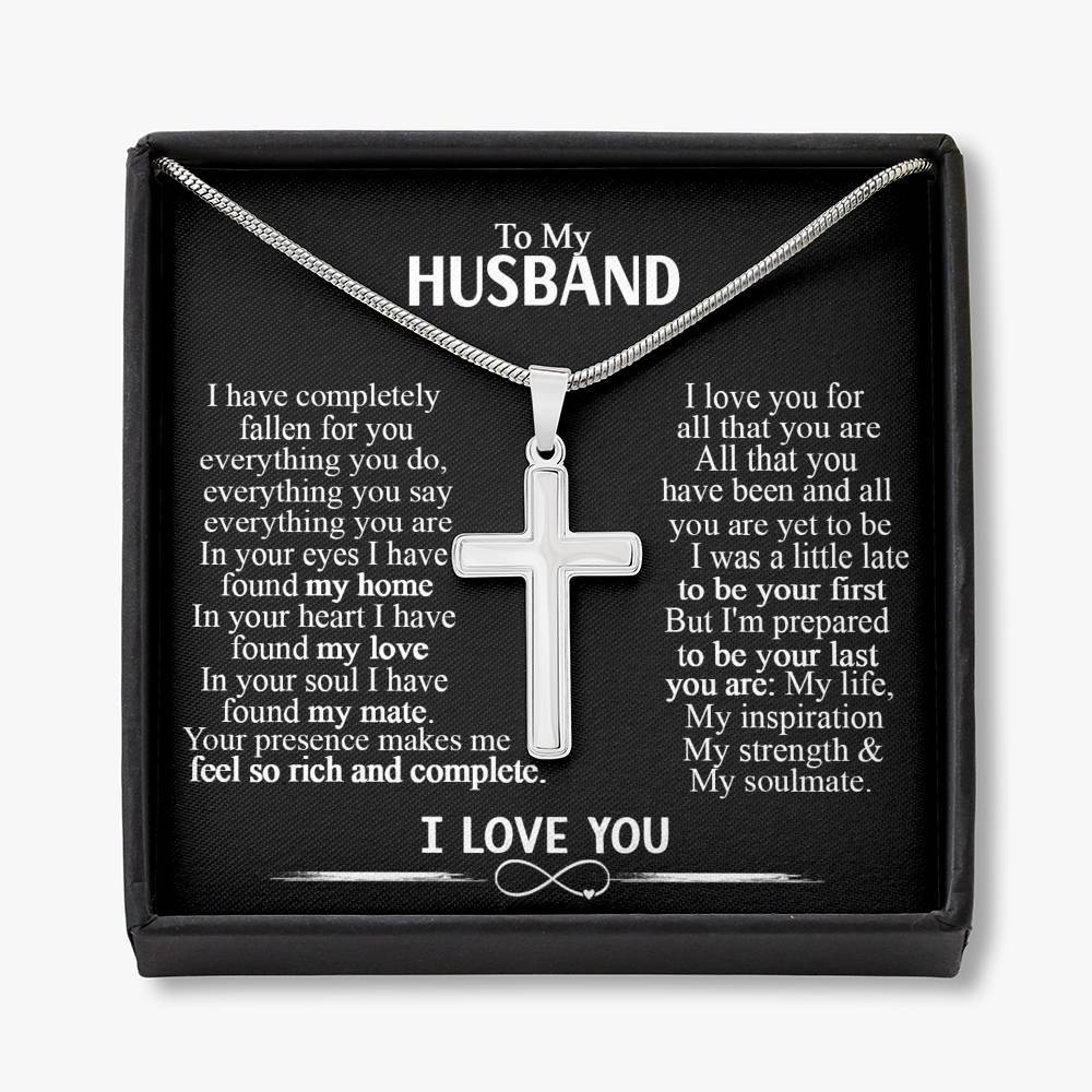 To My Husband Cross Necklace