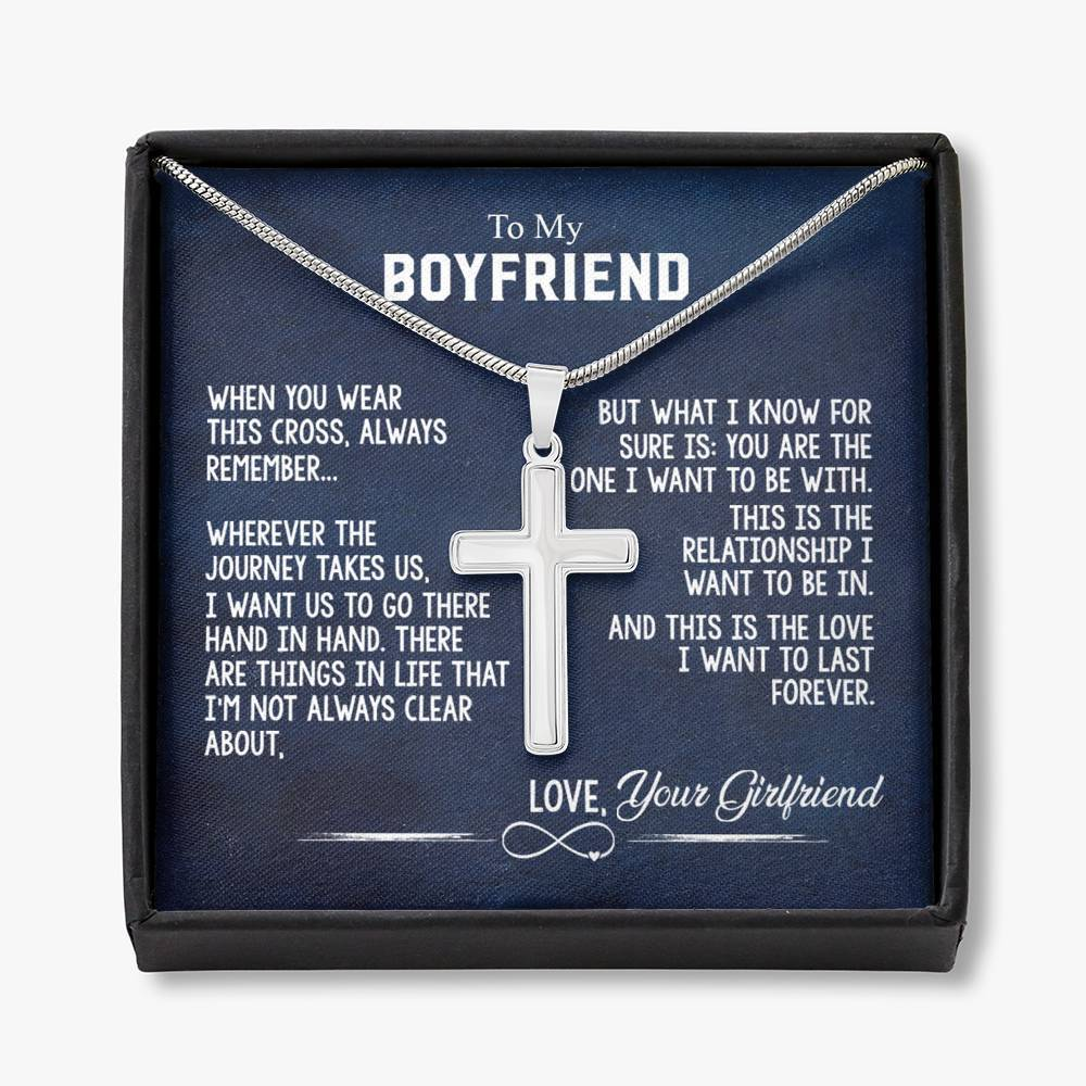 To My Boyfriend - Crafted Cross Necklace