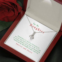 Load image into Gallery viewer, Love Ribbon Necklace - For Your Baby Daughter