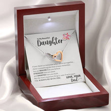 Load image into Gallery viewer, To My Beautiful Daughter Necklace, To Daughter from Dad