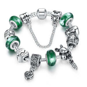 【925 Silver Plated】Animal World Safety Chain Charm Bracelets