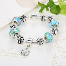 Load image into Gallery viewer, 【Antique Silver】 Hot Sale Multiple Beads Charms Bracelets   (Blue)