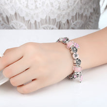 Load image into Gallery viewer, 【Antique Silver】Fresh World Multiple Charms Bracelets (Pink)